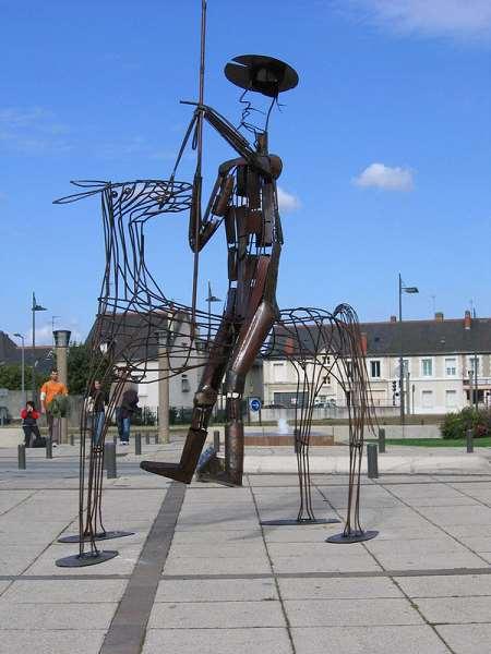 Don Quichotte - Jean Vindras Plasticien Sculpteur